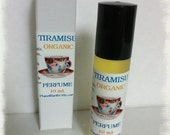 TIRAMISU Perfume  Organic Fragrance All Natural Perfume Roll on 10ml  FREE SHIPPING usa