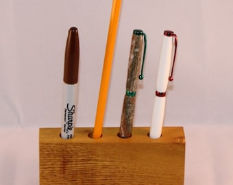 Handmade Osage Orange Pencil Holder, Desk Organizer, C108