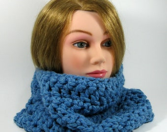 Clearance Sale Blue Cowl Neckwarmer,Sky Blue neck scarf neck warmer,