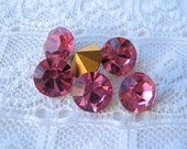 SS39 Swarovski Crystal Pink Round Loose Rhinestones  Qty 6