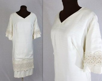 Wedding Dress / Mod Dress / Engagement Dress / 1960s Dress / Plus Size