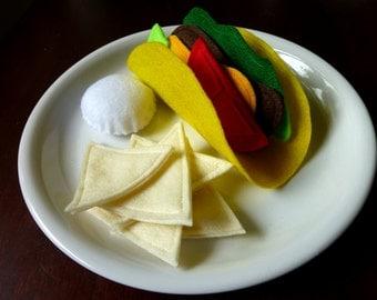 Taco - Felt Play Food