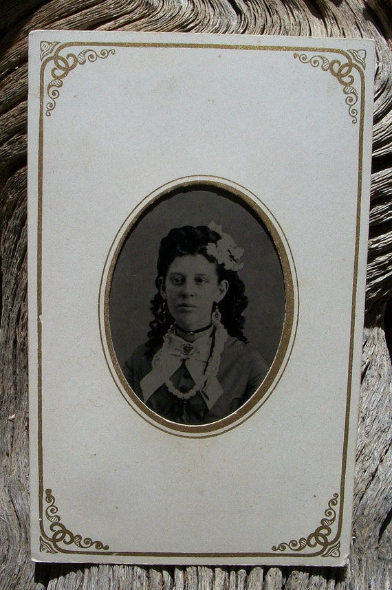 Tintype Accessorized Lady