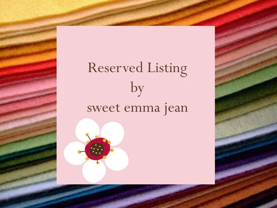 RESERVED LISTING for mnehm