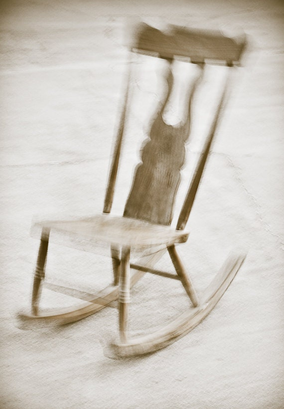 Haunted rocking Photography chair sepia solitary cemetery war tale horror death becomes - The legend of Baron Von Steuben - fine art photo