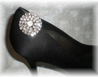 Clear Rhinestone Shoe Clips, Wedding Shoe Clips....Dress Up Shoes for Wedding or Special Occasion