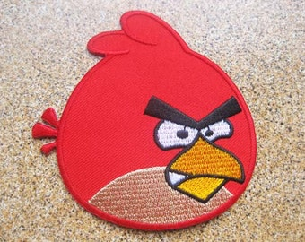 Free shipping angry birds Patch Embroidered Badge 9x9 cm 3""