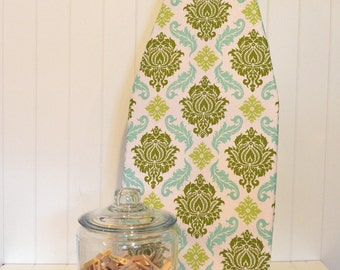 Tabletop Ironing Board Cover - Joel Dewberry's Aviary 2 Damask Dill
