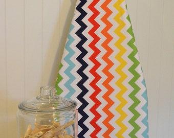 Designer Ironing Board Cover - Riley Blake Chevron Rainbow SMALL
