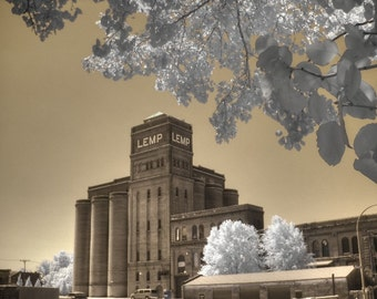 Brewery photo, Beer photography, St. Louis photography, Lemp Brewery, Sepia photo, beer home decor, home decor photo, fine art photography