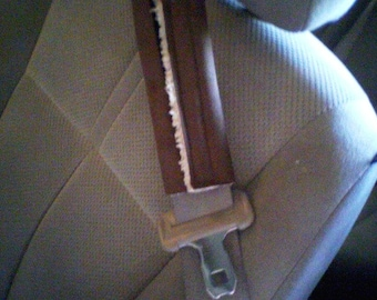Suede Sherpa Seat Belt Cover