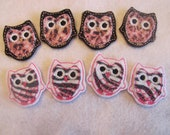Set of 8 Felt Owls - Owl Feltie