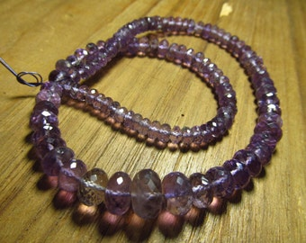 16 inches So gorgeous Neckless - AMETHYST - Micro Faceted Rondell Beads size - 5 - 11 mm approx