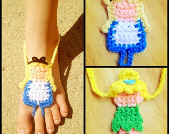 Crochet Princess styled Barefoot Sandals