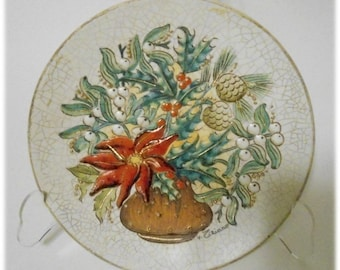V. TIZIANO Christmas Poinsettia  Winter Plate - 1972 323 of 2000 from The Four Seasons