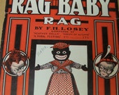 Black History Ephemera Rag time Music Rag Baby Sheet Music Cover 1909