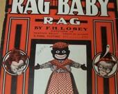 Black History Ephemera Rag time Music Rag Baby Sheet Music Cover 1909