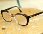 Vintage Titmus Grey and Black Tortoiseshell Horn Rimmed Prescription Glasses