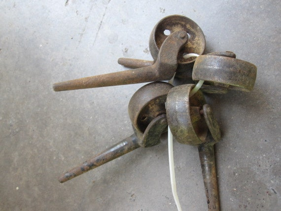 1920s Industrial Casters - Set of 4