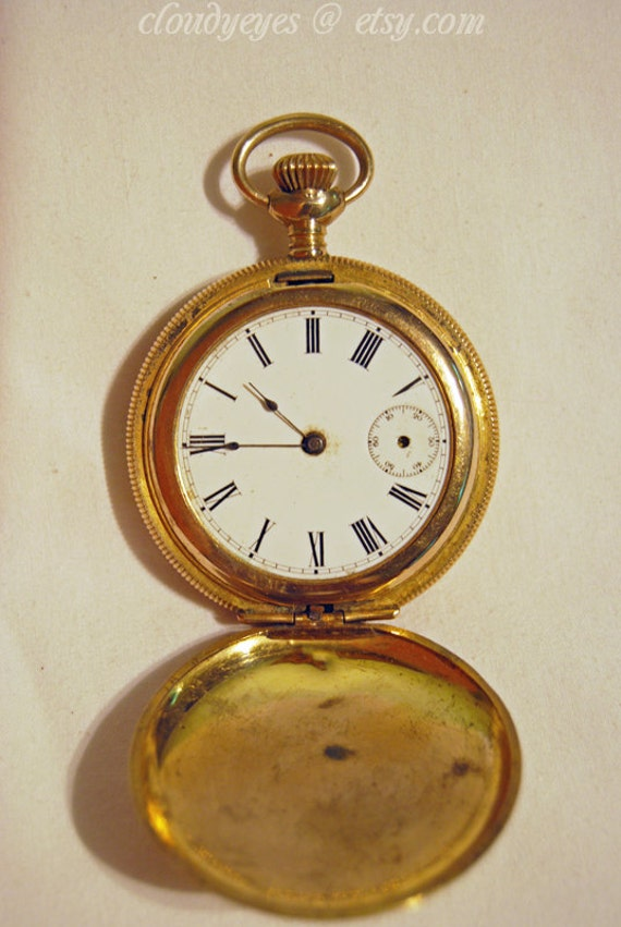 Antique New England Watch Company Rugby Pocket Watch 1920