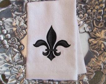 Napoleonic bumble bee fingertip velour bathroom towel 11x18 - Fleur de lis bath towels ...