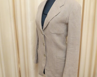 Vintage Country Road 80s Linen Beige Jacket