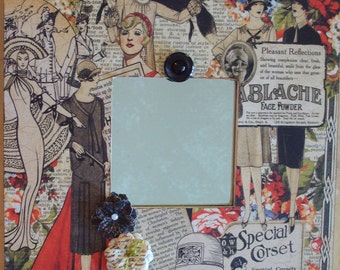 Vintage Inspired Fashionista Decoupaged Mirror