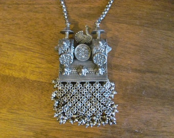 Silver Peacock necklace  from India