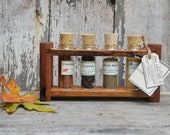 Spice Rack: Mulled Apple Cider, Autumn Brew, Reclaimed Wood Spice Rack by Peg and Awl
