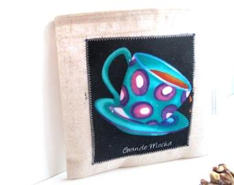 Grande Mocha - Reusable Sandwich Bag - Coffee Lovers Series