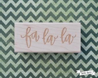 Fa La La Calligraphy Rubber Stamp