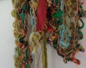 bright bold cheerful colorful collage scarf