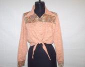 Vintage 1970s Cropped Collar Shirt