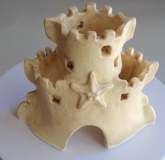 sand castle wedding cake topper wedding cake topper sand castle with starfish by hheaslip 19668