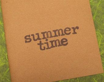 SUMMERTIME mini scrapbook