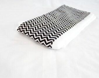 Black and White Chevron Baby Burp Cloth
