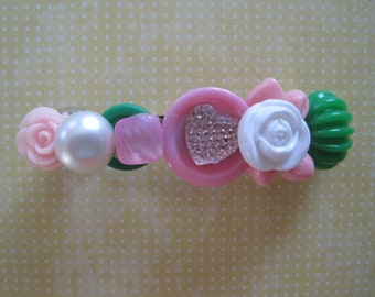 Sweet Heart Hair Barrette