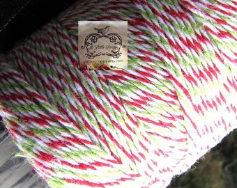 Devine Twine Bakers Twine in Holiday Christmas Colors White Red and Green