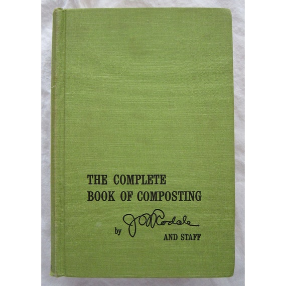 vintage book - The Complete Book of COMPOSTING - go green - circa 1972