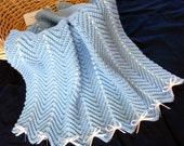 Baby Blue Zigzag Afghan