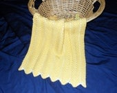 Yellow and White Zigzag Afghan