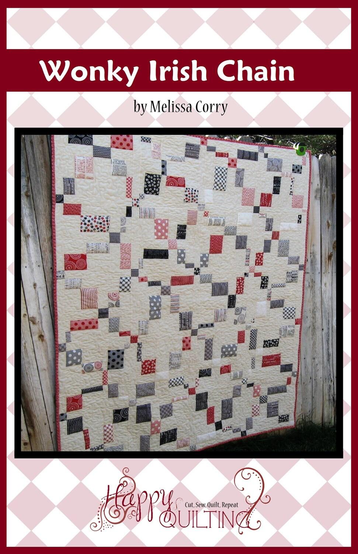 Wonky Irish Chain Pdf Quilt Pattern With 4 Size Options