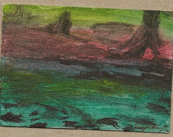 Swamp at Sunset - ACEO - Print