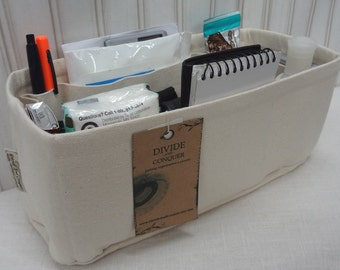 "10"" x 4"" x 5""H / RECTANGULAR / Purse ORGANIZER insert Shaper / Stiff wipe-clean bottom & flexible ends / STURDY / You choose color"