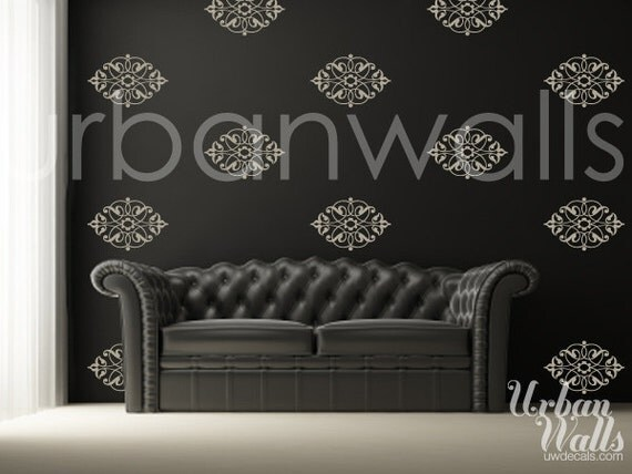 Vinyl Wall Sticker Decal Art - Damask Pattern