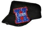 Sequin Cadet Cap - Single Initial in Any Color