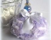Lavender Powder Puff - soft lilac bath pouf - pastel purple and white - gift boxed by Bonny Bubbles