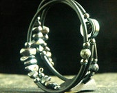Fifty Shades of Grey, Hematite /Black Rubber Bracelet