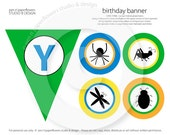 """Pennant-Style """"Happy Birthday"""" Banner - BUGS Collection"""