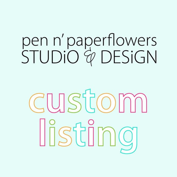 Custom Listing - Deonna Sabato (dsabato617)
